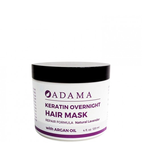 Adama Keratin Hair Mask with Argan Oil - Natural Lavender Scent
