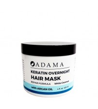 Adama Keratin Hair Mask with Argan Oil - White Coconut Scent