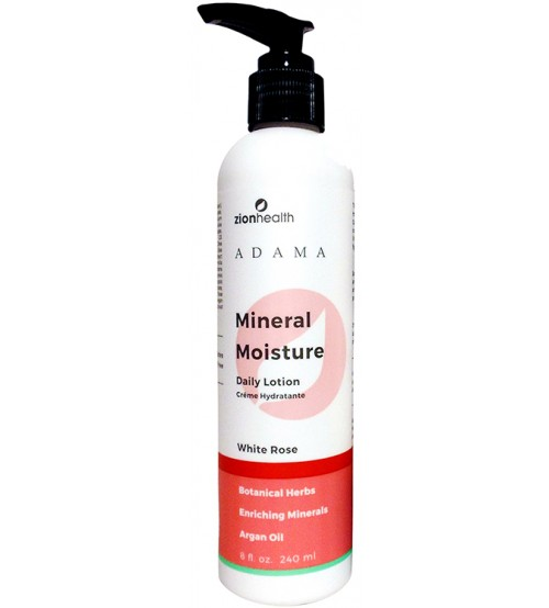 Zion Health Mineral Moisture Daily Lotion - White Rose 8oz.