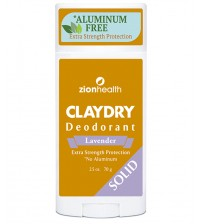 Clay Dry Solid - Lavender Natural Deodorant and Odor Neutralizer