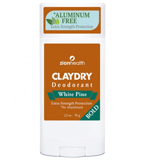 Clay Dry Bold - White Pine Natural Deodorant and Odor Neutralizer