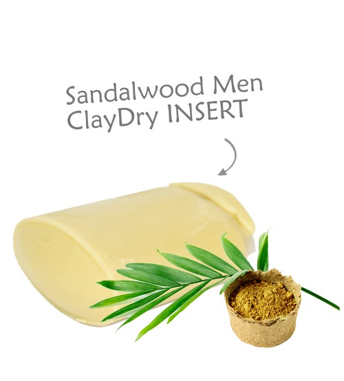 Clay Dry Deodorant INSERT – Sandalwood Men