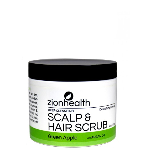 Deep Cleansing Scalp & Hair Scrub Green Apple with Sea Salt