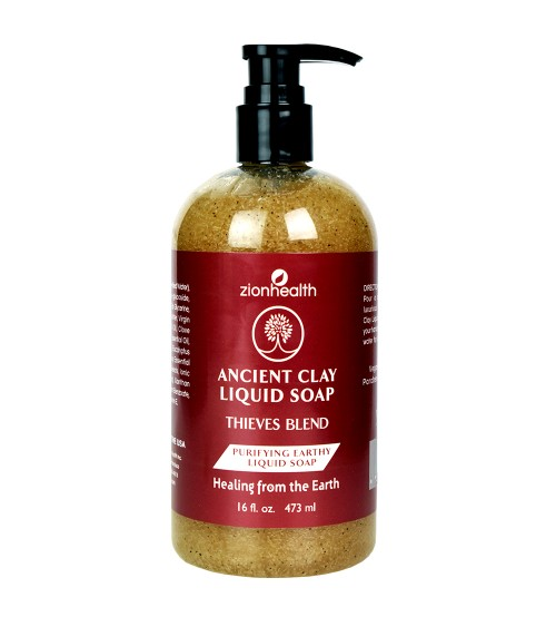 Ancient Clay Liquid Soap Thieves Blend 16oz