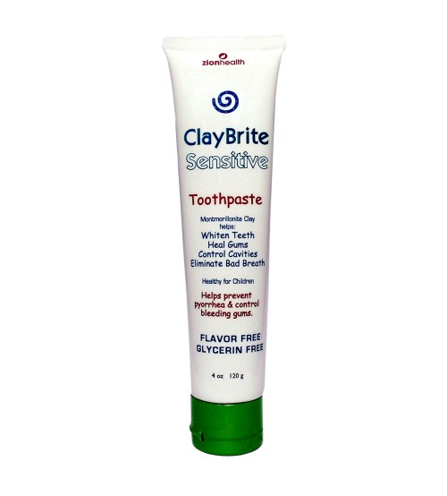 ClayBrite Sensitive Toothpaste, Maximum Relief Toothpaste