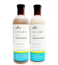 Adama Minerals Hydrating Hair Care Package with Argan Oil