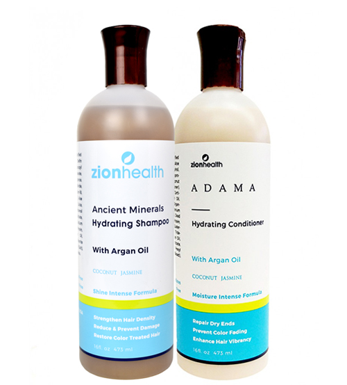 Zion Health Minerals Hydrating Hair Care Package with Argan Oil