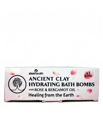 Ancient Clay Hydrating Bath Bombs with Rose &  Bergamot Oil -3 Bath Bombs Per Box