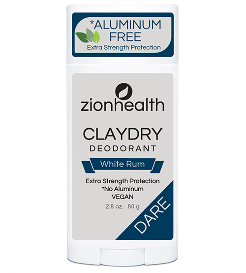 Clay Dry Dare - White Rum Scent Vegan Deodorant 2.8 oz.