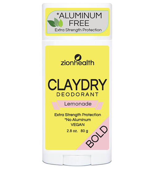 Clay Dry Bold – Lemonade Vegan Deodorant 2.8 oz.