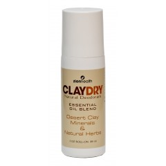 Clay Dry Roll-On– Natural deodorant and odor neutralizer
